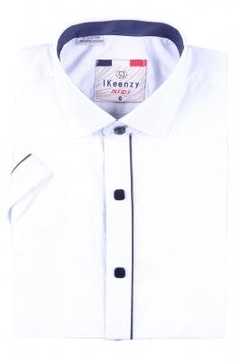 Детская белая рубашка с коротким рукавом (Арт. B SKY 2574K)