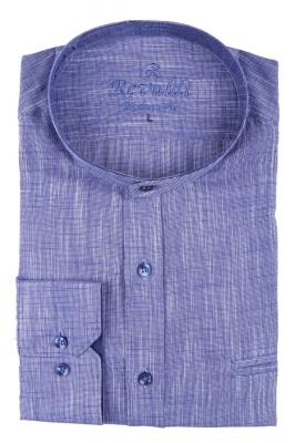 Молодежная однотонная рубашка, длинный рукав трансформер (Арт. T 3127)