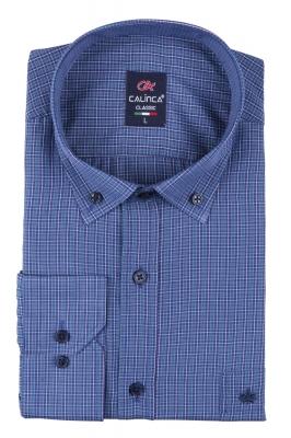 Классическая рубашка в клетку с длинным рукавом (Арт. T 3131)