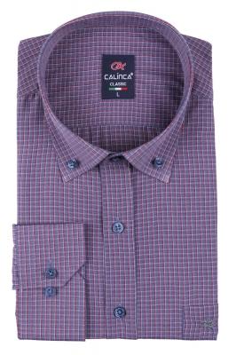Классическая рубашка в клетку с длинным рукавом (Арт. T 3132)