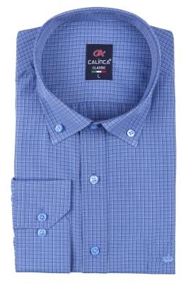 Классическая рубашка в клетку с длинным рукавом (Арт. T 3133)