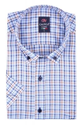 Классическая рубашка в клетку с коротким рукавом (Арт. T 3143K)