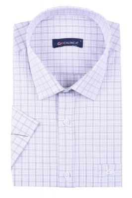 Классическая рубашка в клетку с коротким рукавом (Арт. T 3145K)