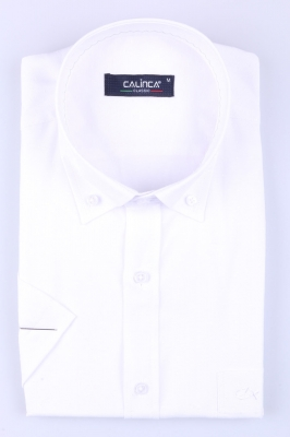 Классическая белая рубашка с коротким рукавом (Арт. T 3150K)