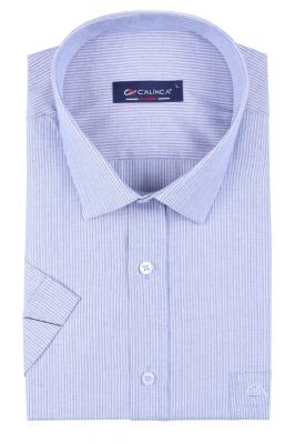 Классическая рубашка в полоску с коротким рукавом (Арт. T 3153K)
