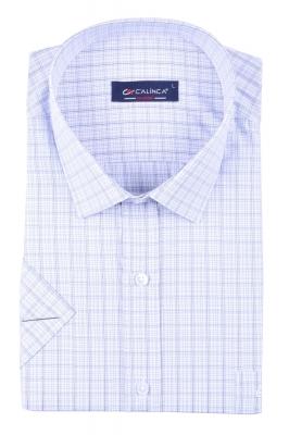 Классическая рубашка в клетку с коротким рукавом (Арт. T 3146K)