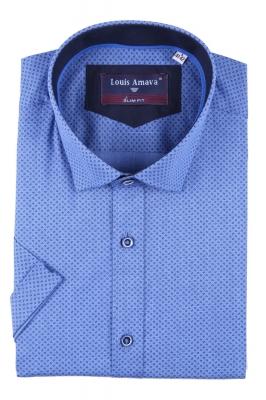 Мужская рубашка в мелкий узор, короткий рукав  (Арт. T 3182К)