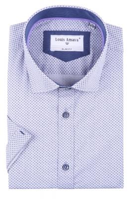 Мужская рубашка в мелкий узор, короткий рукав  (Арт. T 3183К)