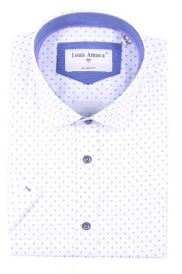 Мужская рубашка в мелкий узор, короткий рукав  (Арт. T 3184К)