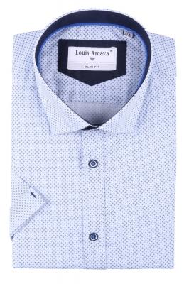 Мужская рубашка в мелкий узор, короткий рукав  (Арт. T 3186К)
