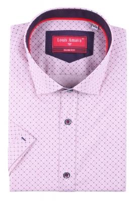 Мужская рубашка в мелкий узор, короткий рукав  (Арт. T 3187К)