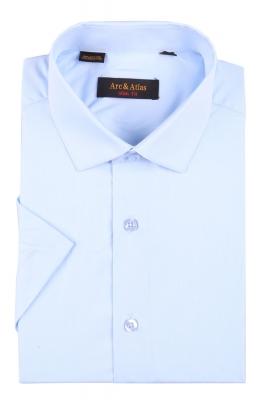 Мужская однотонная рубашка, короткий рукав  (Арт. OD-018KS)