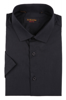 Мужская однотонная рубашка, короткий рукав  (Арт. OD-019KS)