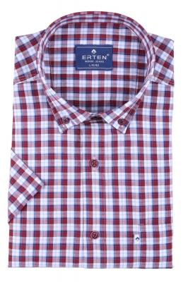 Мужская рубашка в клетку, короткий рукав  (Арт. T 3189К)