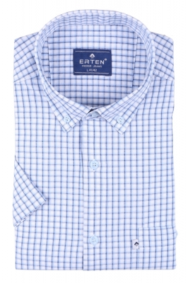 Мужская рубашка в клетку, короткий рукав  (Арт. T 3191К)
