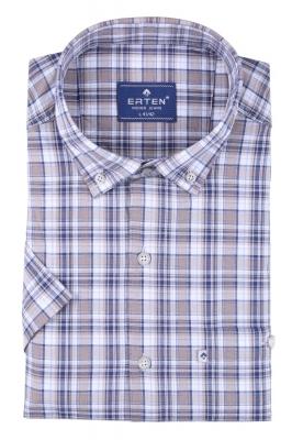 Мужская рубашка в клетку, короткий рукав  (Арт. T 3196К)