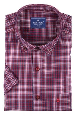 Мужская рубашка в клетку, короткий рукав  (Арт. T 3202К)