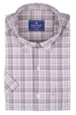 Мужская рубашка в клетку, короткий рукав  (Арт. T 3206К)