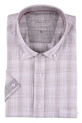 Мужская рубашка в клетку, короткий рукав  (Арт. T 3220К)