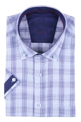 Мужская рубашка в клетку, короткий рукав  (Арт. T 3221К)