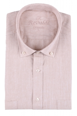 Мужская рубашка однотонная, короткий рукав  (Арт. T 3224К)