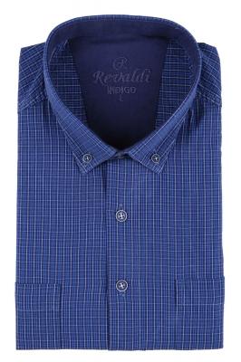 Мужская рубашка в клетку, короткий рукав  (Арт. T 3230К)