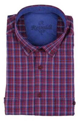 Мужская рубашка в клетку, короткий рукав  (Арт. T 3231К)