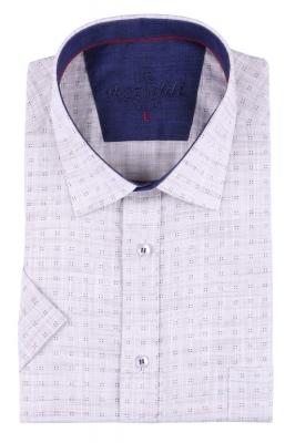 Мужская рубашка в мелкий рисунок, короткий рукав  (Арт. T 3233К)