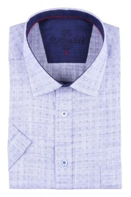 Мужская рубашка в мелкий рисунок, короткий рукав  (Арт. T 3234К)