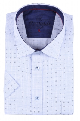 Мужская рубашка в мелкий рисунок, короткий рукав  (Арт. T 3236К)