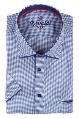 Мужская классическая рубашка в мелкую клетку, короткий рукав  (Арт. T 3249К)