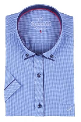 Мужская классическая рубашка в мелкую клетку, короткий рукав  (Арт. T 3254К)