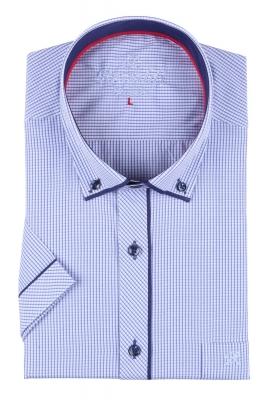 Мужская классическая рубашка в мелкую клетку, короткий рукав  (Арт. T 3255К)