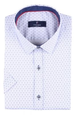 Мужская рубашка в мелкий рисунок, короткий рукав  (Арт. T 3257К)
