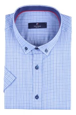 Мужская рубашка в клетку, короткий рукав  (Арт. T 3261К)