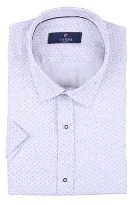 Мужская рубашка в мелкий рисунок, короткий рукав  (Арт. T 3269К)