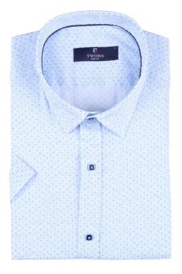 Мужская рубашка в мелкий рисунок, короткий рукав  (Арт. T 3270К)