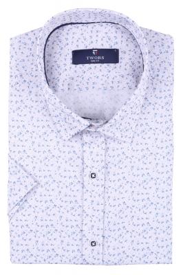 Мужская рубашка в мелкий рисунок, короткий рукав  (Арт. T 3271К)