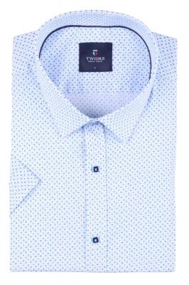 Мужская рубашка в мелкий рисунок, короткий рукав  (Арт. T 3274К)