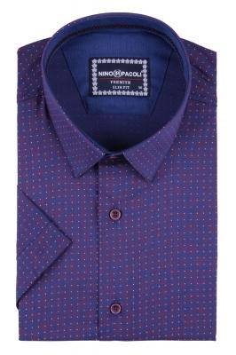 Мужская рубашка в узор, короткий рукав  (Арт. T 3289К)