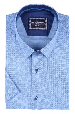 Мужская рубашка в узор, короткий рукав  (Арт. T 3290К)
