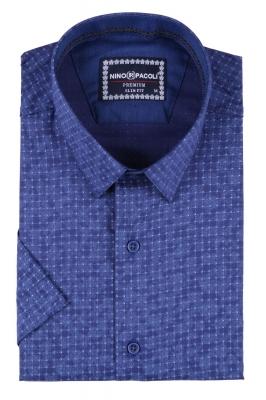 Мужская рубашка в узор, короткий рукав  (Арт. T 3291К)