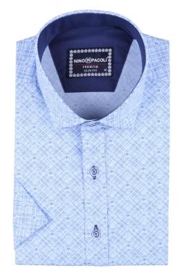 Мужская рубашка в узор, короткий рукав  (Арт. T 3292К)