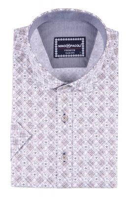 Мужская рубашка в узор, короткий рукав  (Арт. T 3293К)