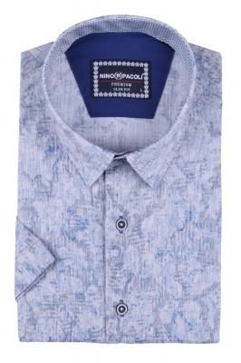Мужская рубашка в узор, короткий рукав  (Арт. T 3295К)