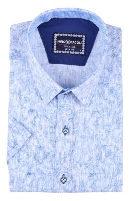 Мужская рубашка в узор, короткий рукав  (Арт. T 3296К)
