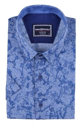 Мужская рубашка в узор, короткий рукав  (Арт. T 3297К)