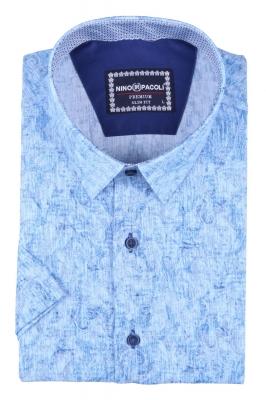 Мужская рубашка в узор, короткий рукав  (Арт. T 3298К)