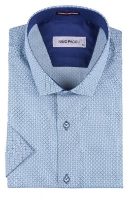 Мужская рубашка в мелкий рисунок, короткий рукав  (Арт. T 3302К)