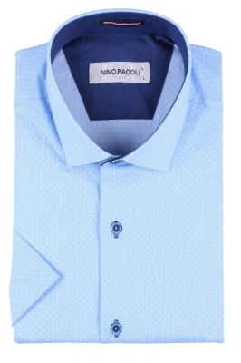 Мужская рубашка в мелкий рисунок, короткий рукав  (Арт. T 3303К)